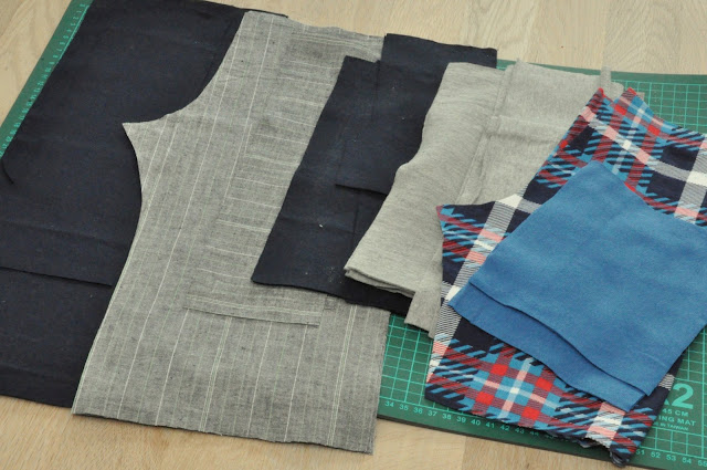 bunke stof til hjemmesyet tøj