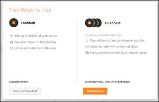 Google Play Music 無料と有料の違い