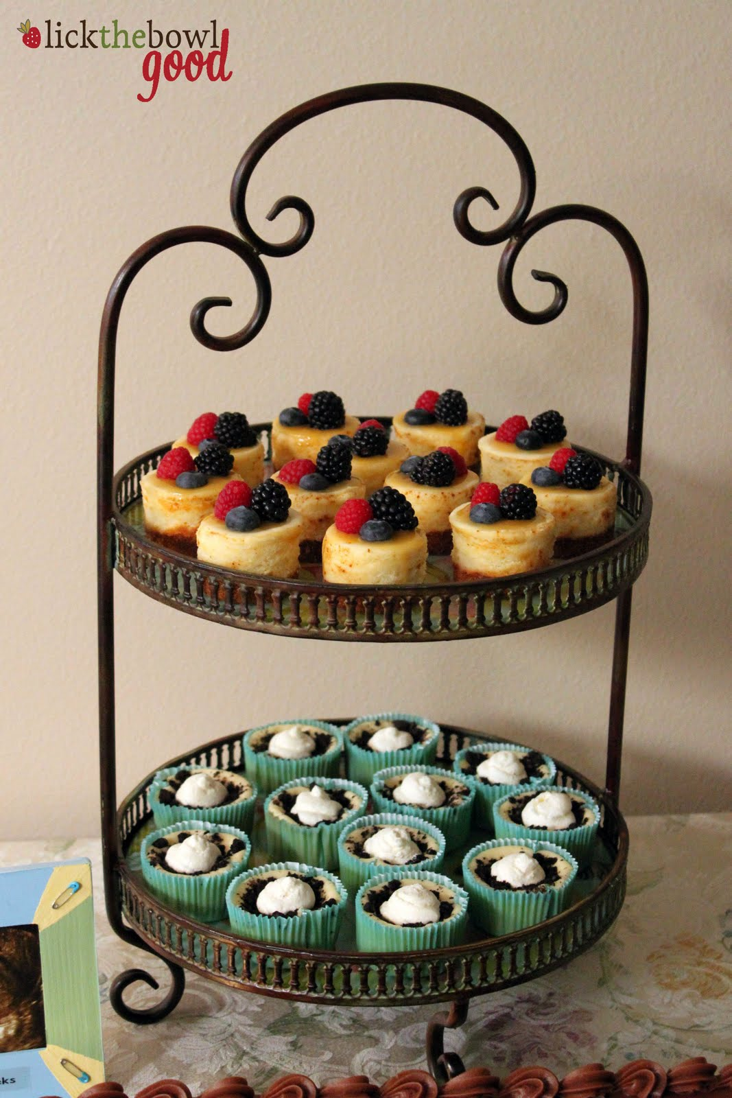 Lick The Bowl Good Baby Shower Mini Cheesecakes