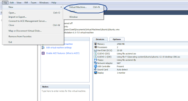 Creating a new Virtual Machine in VMware