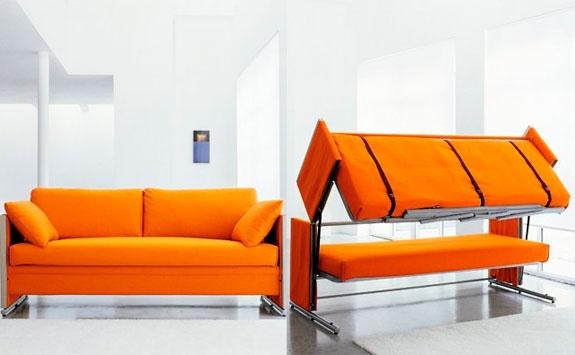 Drible as pequenas metragens da casa utilizando m veis for Sofa que se transforma em beliche