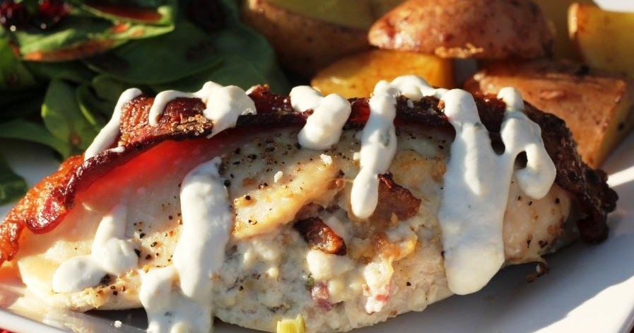... Bestest Recipes Online: Gorgonzola and Bacon Stuffed Chicken Breasts
