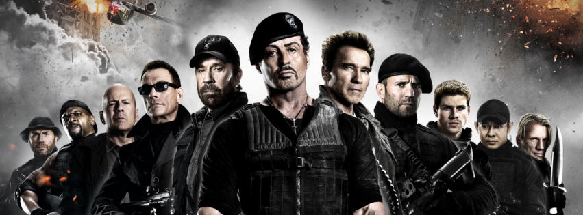 The expendables 2 facebook cover