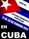 Por el levantamiento popular en Cuba
