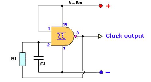 clock generator electronic project diagram basic and tutorialsbasic electronics projects and tutorials