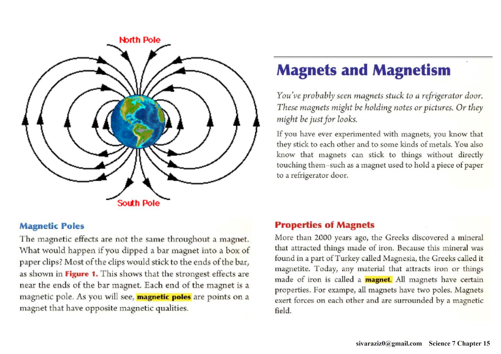 Science 7 Chapter 15 Electromagnetism INTERACTIVE NOTEBOOKS – Electromagnetism Worksheet