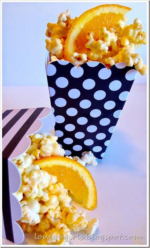 Orange Creamsicle Popcorn, shared by Lou Lou Girls
