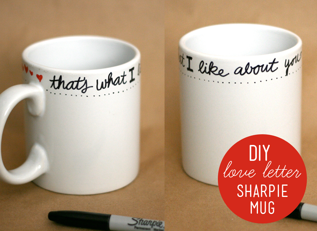 Diy Sharpie Mug Valentine Gift My Sister S Suitcase Packed With