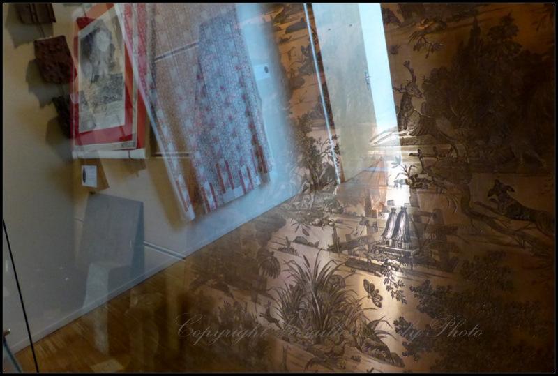 Copper toile de Jouy plaque