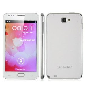 Unlocked Smartphone N8000 5 Inch Screen Android 4.0 Smart Phone Dual SIM Mtk6575 1ghz 3g Tv GPS Review