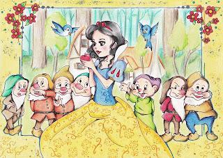 Disney Snow white - Schneewittchen Fanart