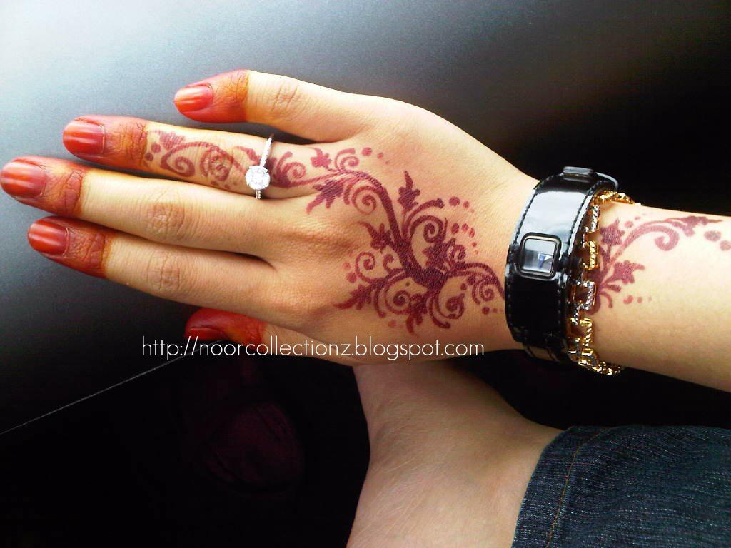 PERKHIDMATAN UKIRAN INAI PENGANTIN Henna Inai Simple Design