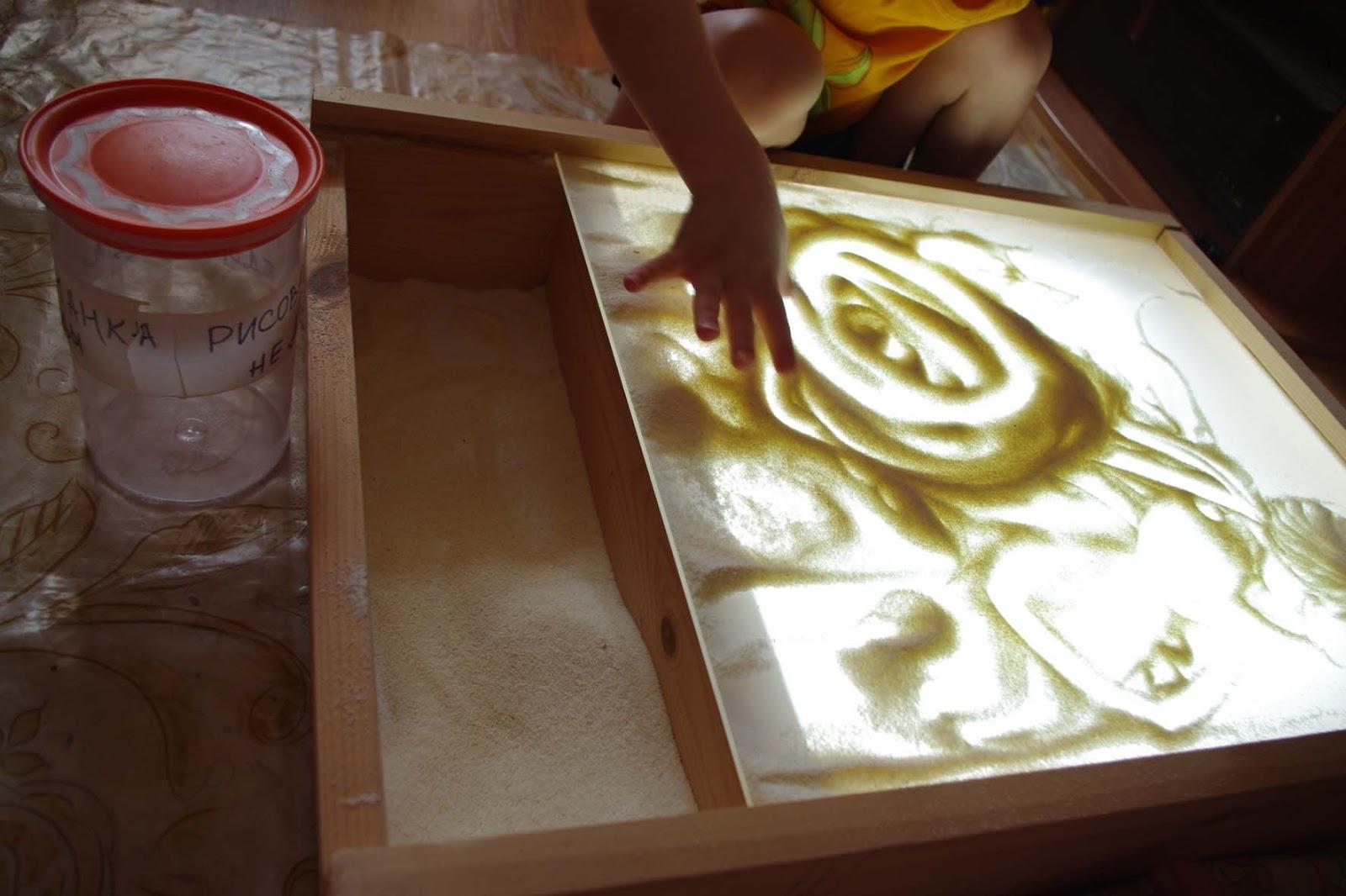 Как сделать стол для песочная анимация
