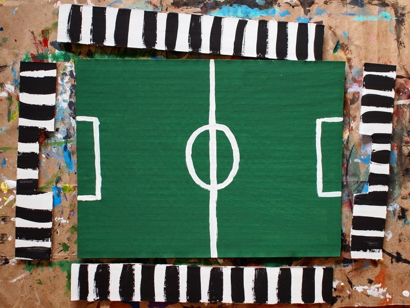 how to make a cardboard pom pom soccer game