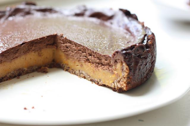 les petits plats de cheesecake tarte chocolat citrouille vegan