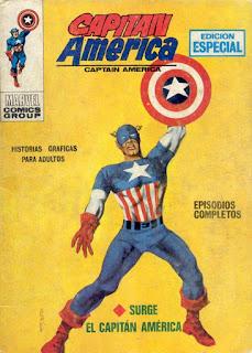 Portada de Capitán América Volumen 1 Nº 1 Ediciones Vértice