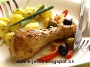 Pečené kurča so zeleninou - recept