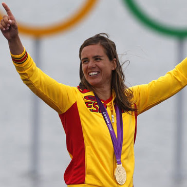 medalla de oro Marina Alabau windsurf en Vela RSX España Juegos Olimpicos de Londres 2012