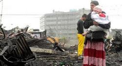 MILANO 5 aprile 2012 - campo rom di via bonfadini - sacile distrutto dalle fiamme