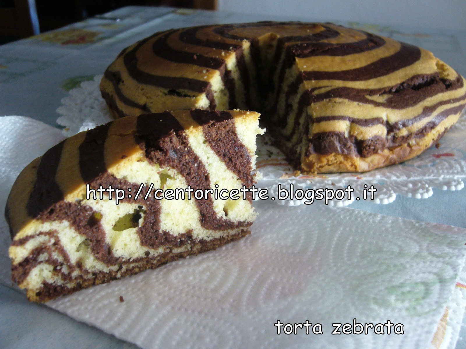 Ricetta torta zebrata al cioccolato