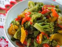 Refogado de Brócolis e Pimentões (vegana)