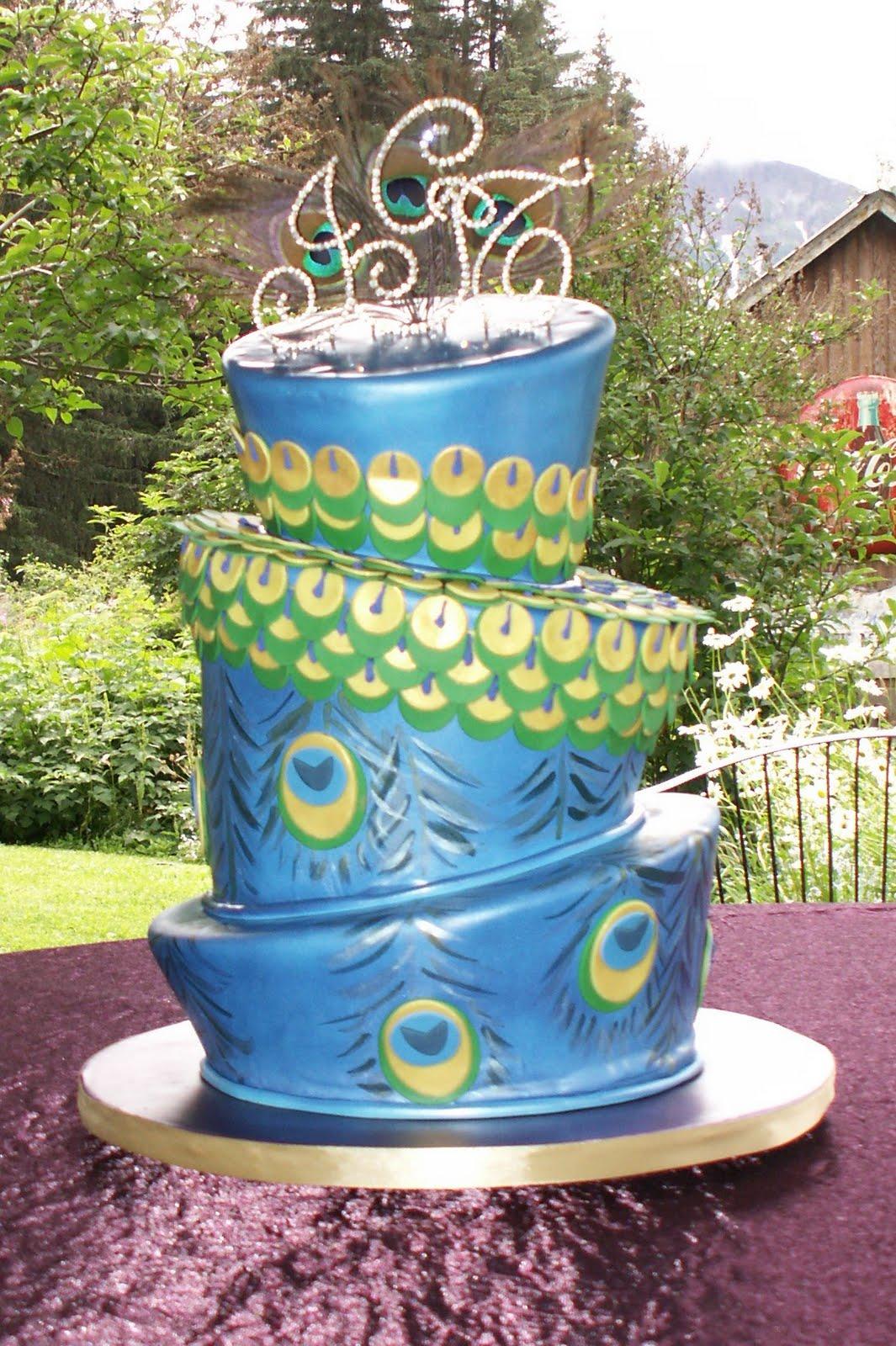 Wedding Cakes Peacock Wedding Cakes