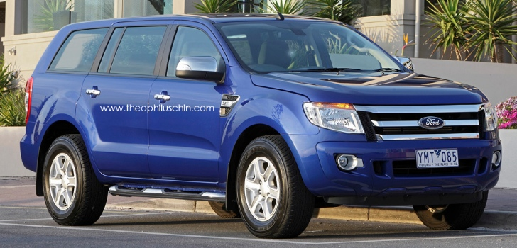 For those of you who didn't know this, the Ford Everest is a midsize