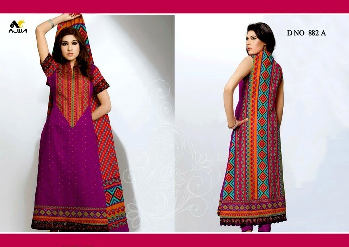 Unique Summer Lawn Collection 2014 by Ajwa