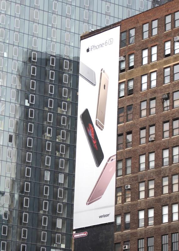 iPhone 6s billboard NYC