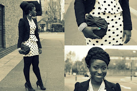 OOTD: Peplum &amp; Polka Dots