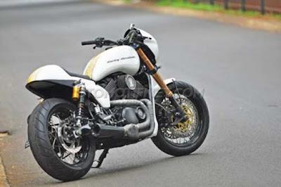 Modifikasi Harley Davidson Street 500, Cruiser Jadi Cafe Racer