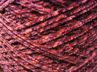 Cone of Mystery Chenille Yarn