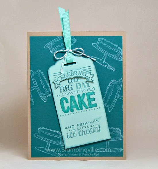 Tag + card combo with Big Day Stamp Set. #cardmaking #papercrafts #StampinUp