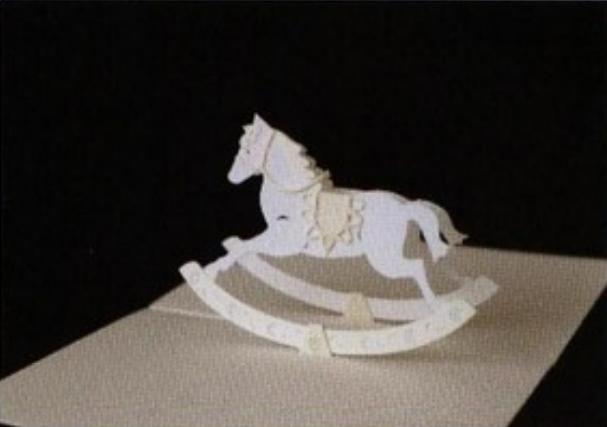 [Kirigami] [180 độ] 12 Pattern của Hiroko Rocking+horse