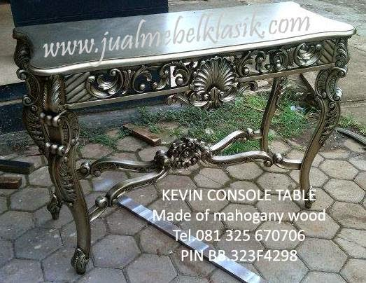 Silver leaf painted console table, italian console table, luxury painted console table silver leaf