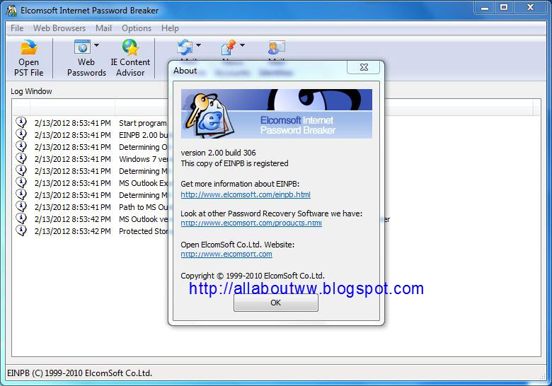 elcomsoft internet password breaker serial key