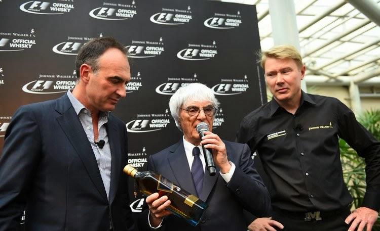 Acto de presentación del acuerdo entre Johnnie Walker y la F1