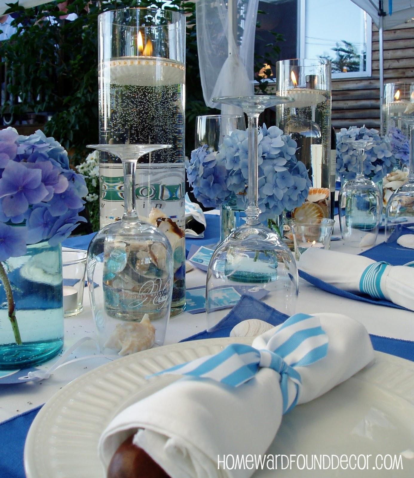 HOMEWARDfound Decor: Summertime Blues: DIY Party Decor