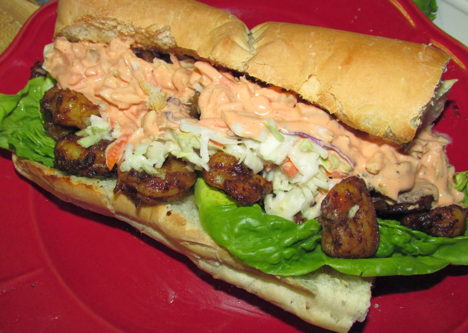 ... Love of Food: Cajun Shrimp PoBoys with Sweet Slaw and Spicy Remoulade