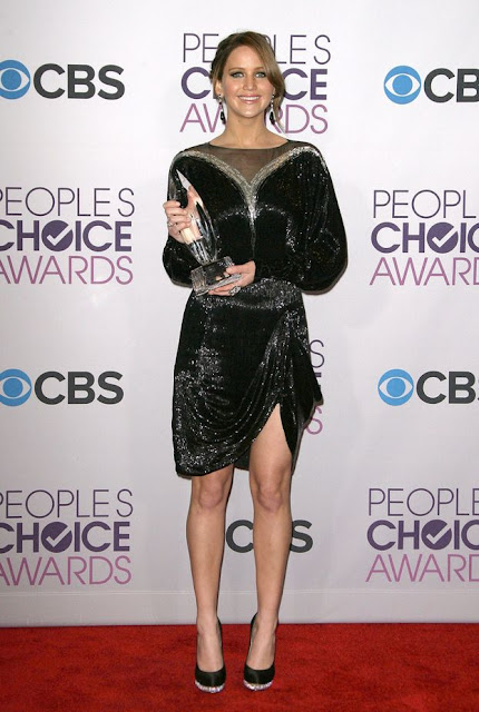 Jennifer Lawrence at The Peoples Choice Awards 2013