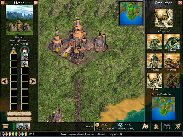 Warlords 4 - Orc Castle Screenshot.