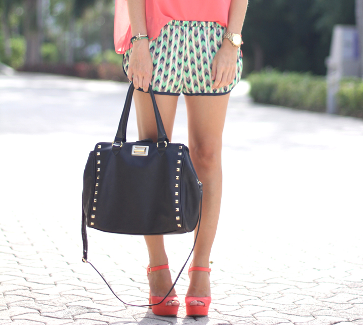 Tribal shorts fashion blogger