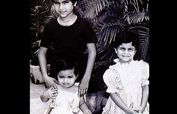 childhood rare photos of saif ali khan