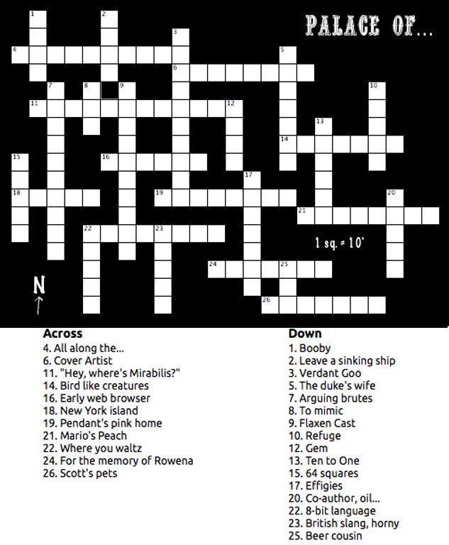 Dungeons and Digressions: Sunday Crossword Puzzle: Palace of...
