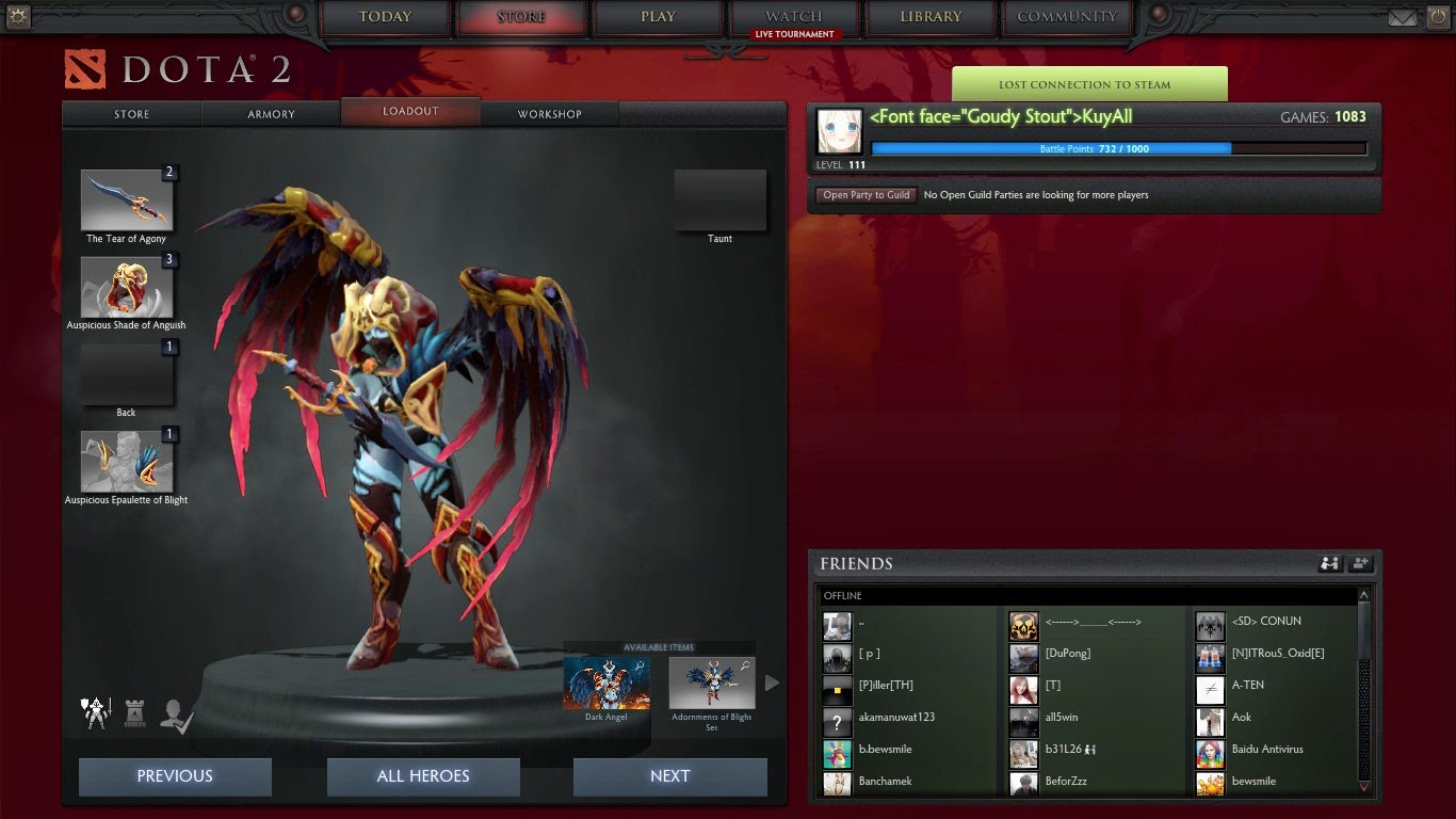 dota 2 mod queen of pain bloodfeather wings immortal items