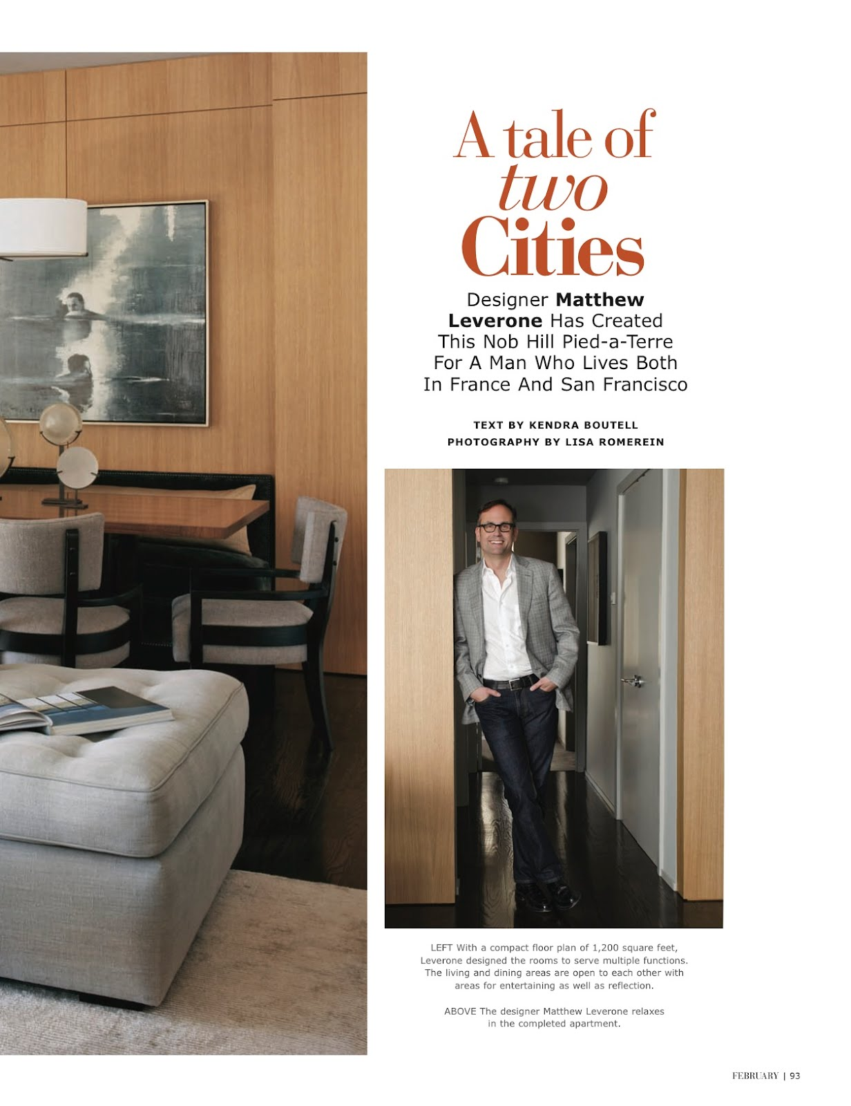 A Tale Of Two Cities California Homes Magazine February 2012