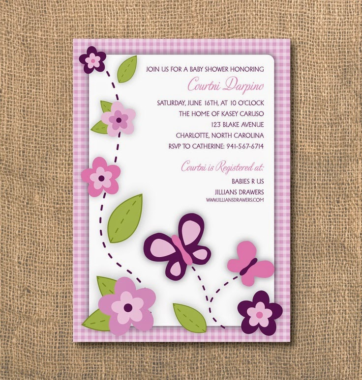 Butterfly Baby Shower Invitation for great invitation example