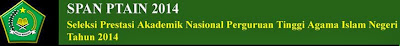 Kuota Penerimaan MABA UIN Alauddin Makassar 2014 jalur SPAN PTAIN
