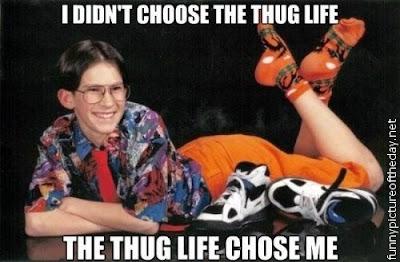 Dork Nerd Funny Thug Life Chose Me