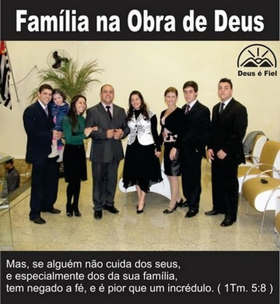 Pastor Presidente e Sua familia